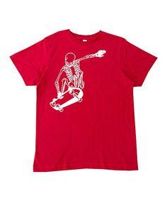 Red Skateboard Skeleton Tee - Infant Toddler & Boys