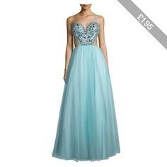 MIGNON Embellished-Bodice Gown W/Strappy Back
