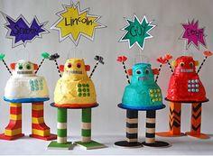 ¡Divertida fiesta con robot tartas!