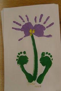 Hand print Flower