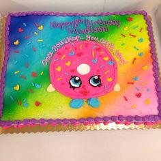 Shopkins donut on a cake