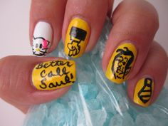 DUI? Dealing drugs? Better call Saul! nail art. Breaking Bad nails. Breaking Bad Art, Bad Nails, Call Saul, Drugs, Hair Beauty, Nail Art, My Favorite Things, Nail Art Designs, Nail Arts