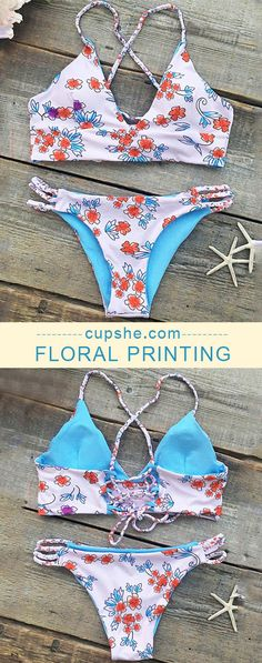 Treat Yourself to Something Special. Cupshe Seaside Splendor Floral Bikini Set will show your curvy beauty in floral printing and low rise design. Can't miss it. Shop now.