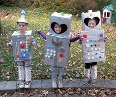 robots...bottle cap buttons