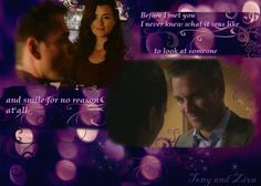 Tony and Ziva, I never knew what it was like to look at someone and smile for no reason at all...