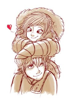 Hiccup + Astrid by b4tekt