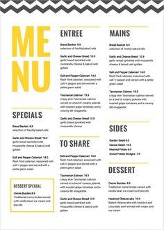 large menu tabloid menu 11x17 menu musthavemenus design