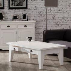Stolek - lavice Milton white 130x73x45cm, 130x73x45cm - Dekoria