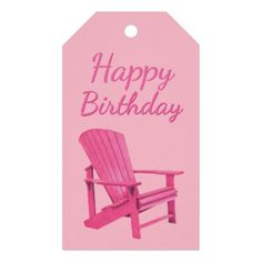 Pink Adirondack Chair Any Occasion Gift Tags - occasion gifts gift idea diy