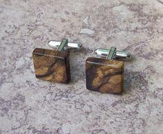 Dogwood Wooden Cufflinks   049 by OruAka on Etsy, $16.99