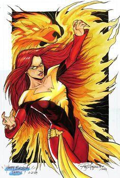 Dark Phoenix Colored by *Arzeno on deviantART