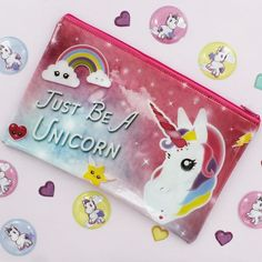 We love this Unicorn Pencil Case and Puffy Stickers #theworksstores #theworks #stickers #stationery #unicorn