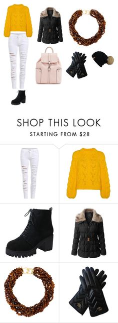 """""""Its Cold Outside"""" by renee-pea on Polyvore featuring Ganni, LE3NO, Kenneth Jay Lane and Gucci"""