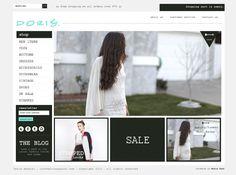 custom ecommerce website design for Doris Apparel by Moxie Pear Design - dorisapparel.com