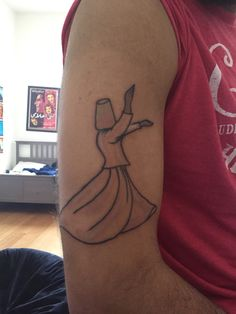 Whirling dervish tattoo #sufi #sufism #darvish #tattoo #freshink #simple