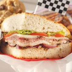 Brickyard Bistro Sandwich.  Need a sandwich for our road trip home,...maybe this one has potential