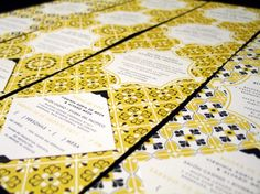 Mexican Tile-Inspired 50th Wedding Anniversary Party Invites