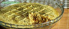 Torta de grão-de-bico vegan sem glúten
