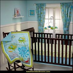 ocean theme baby bedroom seaside style