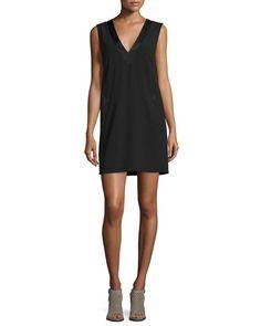 RAG & BONE Phoebe Sleeveless Crepe Dress, Black. #ragbone #cloth #