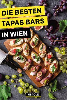 Tapas sind wirklich eine leckere Angelegenheit, nicht nur in Spanien und nicht nur im Urlaub! Damit du auch in Wien in den Genuss der kleinen, köstlichen Happen kommst, haben wir die besten Tapas-Bars in Wien für dich herausgefunden. #wien Tapas Bar, Restaurants, Curry, Bartenders, Fresh Rolls, Vienna, Austria, Ethnic Recipes, Food
