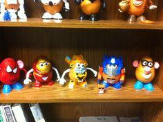 SpiderSpud, IronSpud (Tony Starch), Bumblespud, Optimus Spud and random.