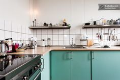 industrial kitchen tones