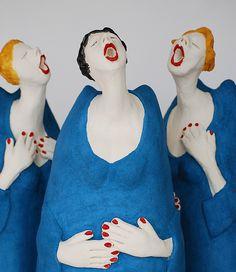 Paper Mache Sculpture, Sculpture Art, Clay Sculptures, Clay Dolls, Art Dolls, Fat Art, Creative Workshop, Fat Women, Angel Art