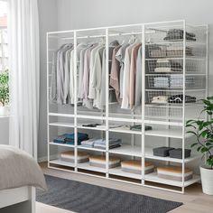 JONAXEL Frame/mesh baskts/clths rl/shlv uts - IKEA Could be good as a divider Best Closet Systems, Ikea Closet System, Closet Shelf Dividers, Closet Ikea, Closet Shelves, Closet Storage, Closet Organization, Closet Drawers, Ikea Shelves