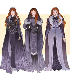 Sansa Stark and Daenerys Targaryen Costume Designs by Hannah Alexander Artwork Fantasy Character Design, Character Design Inspiration, Game Of Thrones Art, Fantasy Dress, Halloween Kostüm, Vintage Halloween, Halloween Makeup, Halloween Costumes, Drawing Clothes