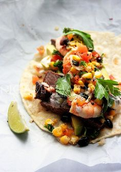 Surf n Turf Taco by sasQuat-ch.deviantart.com on @deviantART