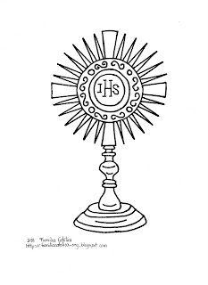Familia Católica: La Santa Eucaristía: Páginas para Colorear para niños  monstrance coloring pages