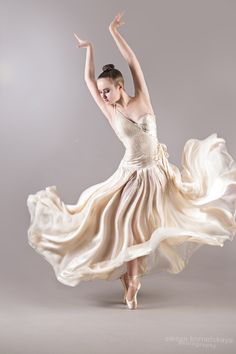 Ballerina in pretty dress