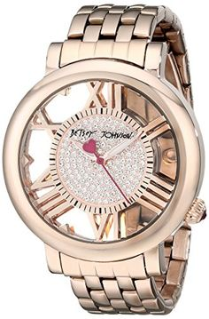 Betsey Johnson Women's BJ00352-03 Analog Display Quartz Rose Gold Watch