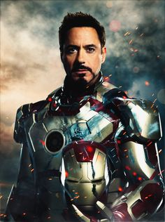 "Robert Downey Jr. as Tony Stark in ""Iron Man 3"""