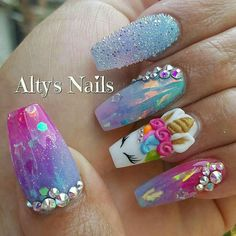 Our obsession with unicorn everything is never running out! Whether you want to go all out and emboss an actual unicorn horn onto your nail or simply embrace these unicorn-inspired shades from Nails Inc we think it's definitely a nail trend to try! 3d Nail Art, Cute Nail Art, Unicorn Nails Designs, Unicorn Nail Art, Dope Nails, 3d Nails, Coffin Nails, Acrylic Nail Designs, Nail Art Designs