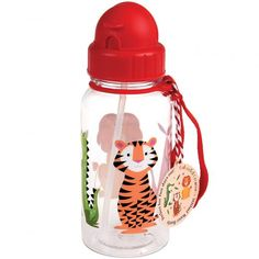 HI KAWAII WEATHER 500ML PLASTIC WATER SPORTS DRINKS LUNCH BOTTLE WITH STRAW