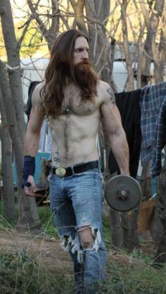 Post-Apocalyptic Barbell Warrior Beard