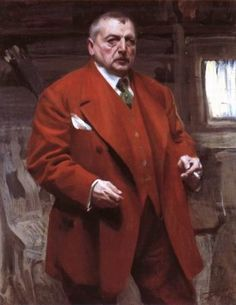 Self Portrait in #Red by Anders Zorn