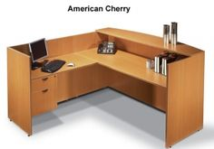 Offices To Go L-Shaped Reception Desk with Customer Counter Top