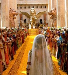 Queen Esther | queen esther enters the hall of ceremonies facing xerxes sitting on ...