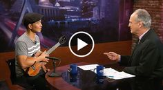 """Man Plays """"While My Guitar Gently Weeps"""" With Ukulele On TV And Ends Up Stunning The Anchor 