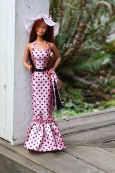Southern Breeze!  This lovely full length mermaid style dress for the Super Size Barbie and Christie 18 inch dolls, is now available http://dollyknickers.com/southern-breeze/  $45.00  OOAK