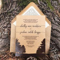 Fall Wedding Stationery | Kraft and Brown Wedding Invitations | Rustic Wedding Invitations | Outdoor Wedding Invitations