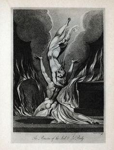 William BLAKE (1757-1827) « La Réunion de l'âme et du corps »