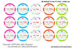 Bottlecap Be patient i'm one of a kind by LuziEllisGraphics Printed Ribbon, Fb Covers, Collage Sheet, Timeline, Circles, Avatar, Custom Design, My Etsy Shop, Banner