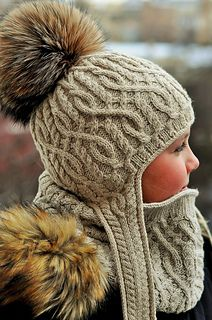 Winter Adventure Snood complements Winter Adventure and Bonvoyage Hats.