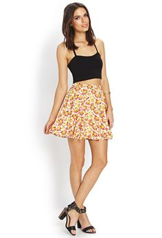 Bright Bouquet Skater Skirt | FOREVER21 #F21Spring #F21Contemporary #Floral