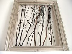 Cleverlyinspired: Garage Sale Frame = My favorite piece of ART !