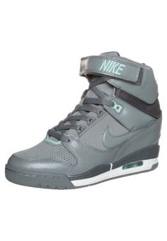 AIR REVOLUTION SKY - High-top trainers - grey/anthracite/hyper turq